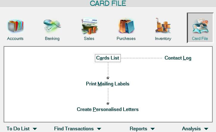 MYOB Card File